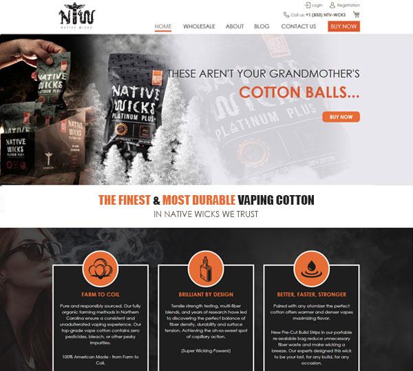 CBD Marketing Agency - Nativewicks Cotton