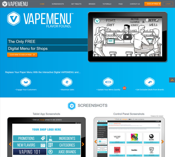 CBD Marketing Agency - Vape Menu