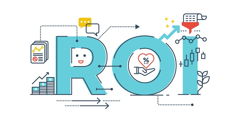 Return on investment word design